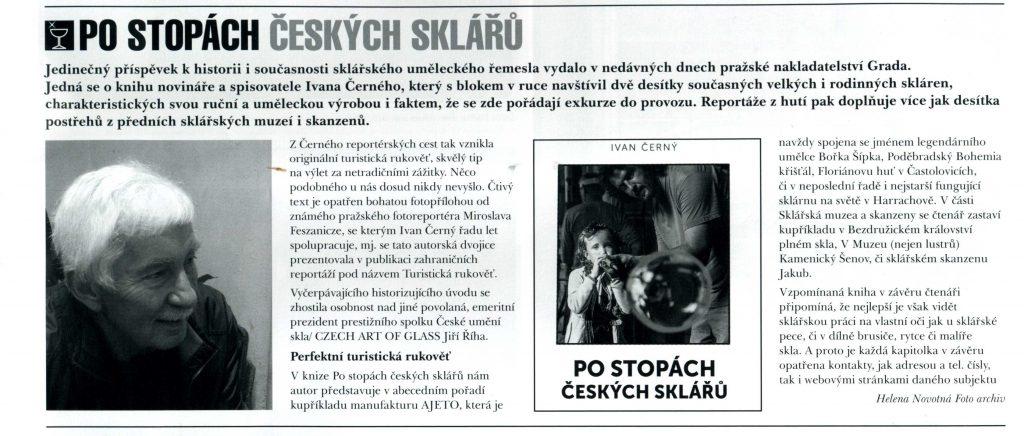 Ivan Černý: Po stopách českých sklářů (Mozaika 2/2019, str. 17)