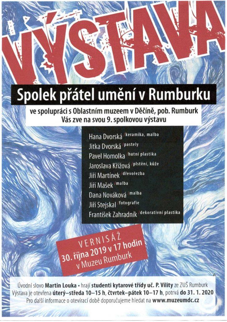 Vernisáž 9. spolkové výstavy umění v rumburském muzeu